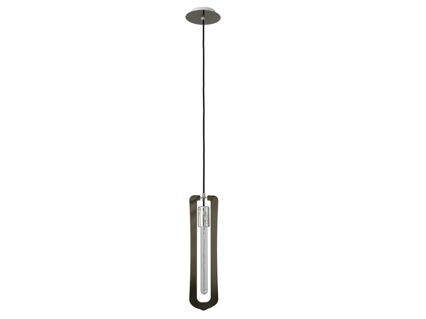 Metal pendant lamp NEWEL BLACK CHROME by Hind Rabii
