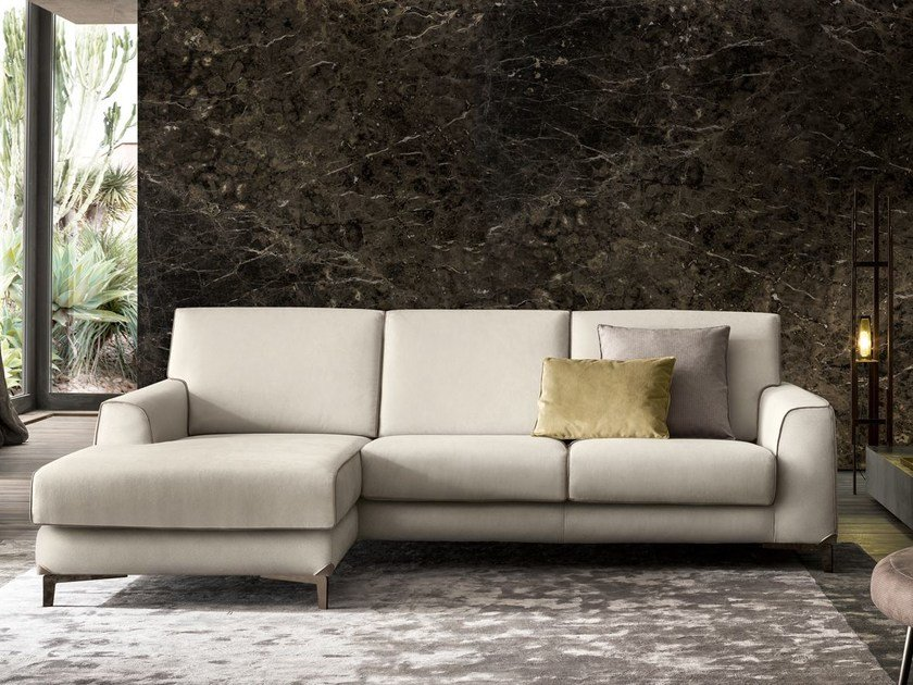 Sectional fabric sofa with chaise longue NEWMAN | Sofa with chaise longue by Felis