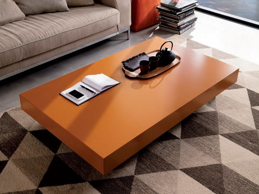 Height-adjustable folding coffee table NEWOOD | Lacquered coffee table by Ozzio Italia