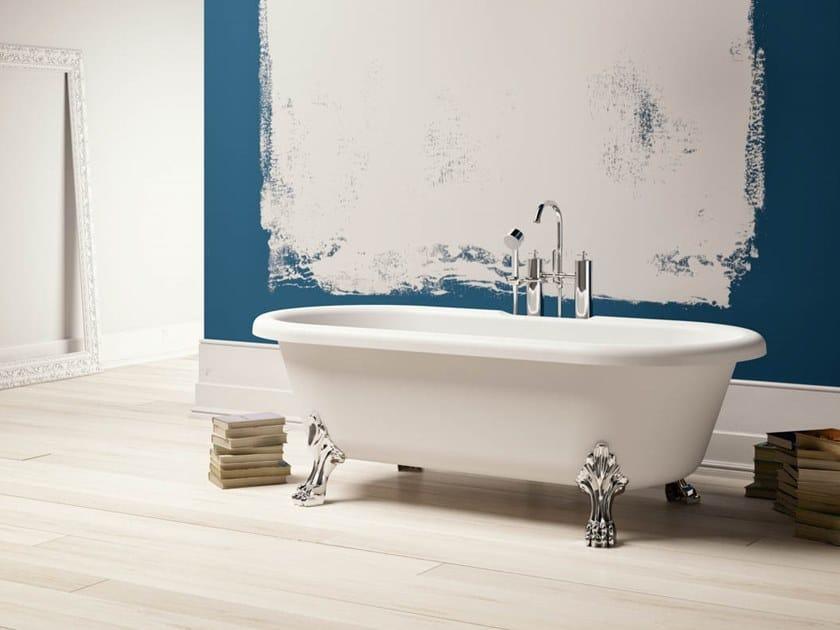 Vasca da bagno centro stanza ovale in Kstone su piedi NEWPORT by Karol