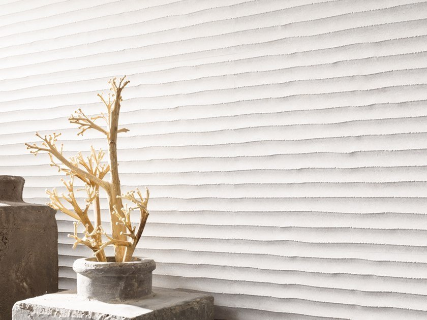 3D Wall Cladding with concrete effect OLD WHITE by Venis