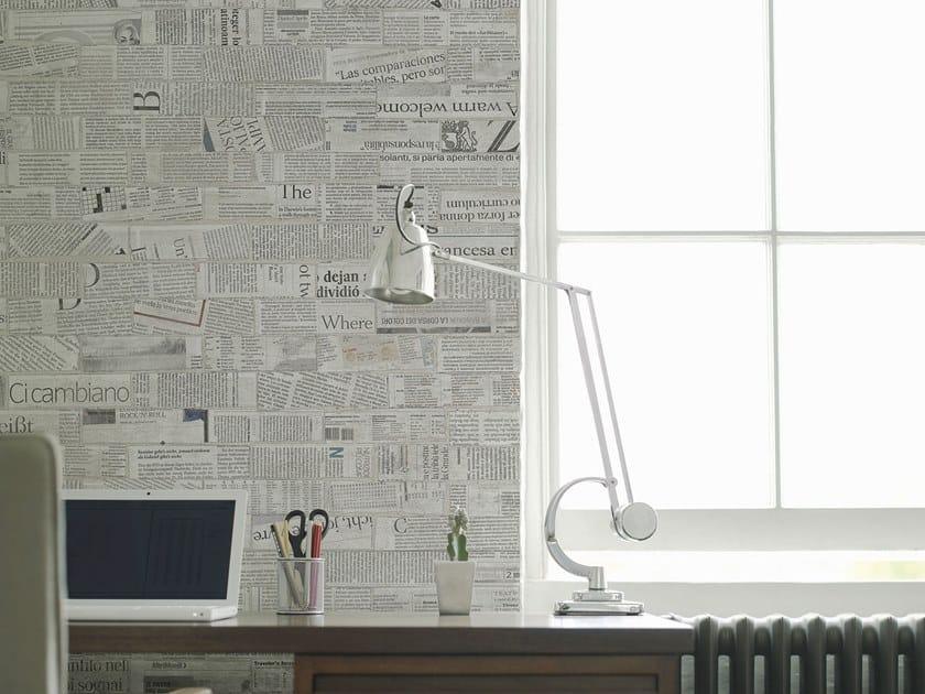 Contemporary style brick effect writing wallpaper NEWSBRICK by Tecnografica Italian Wallcoverings