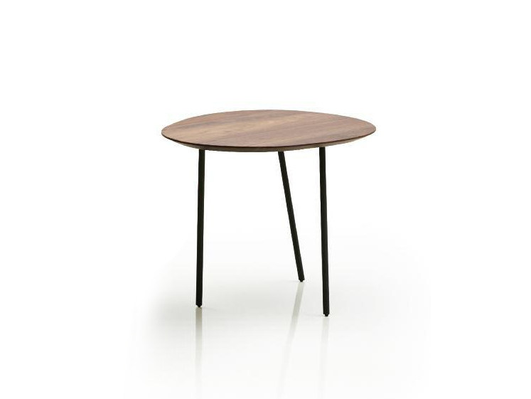 Oval walnut high side table NEWTON | High side table by Papadatos