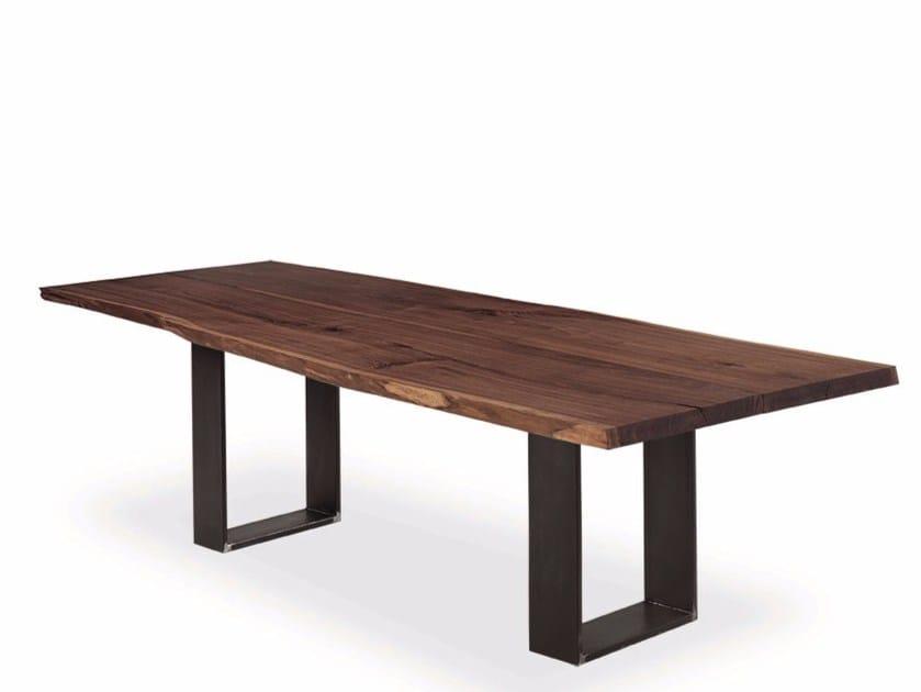 Tavolo rettangolare in legno massello NEWTON PLANK by Riva 1920
