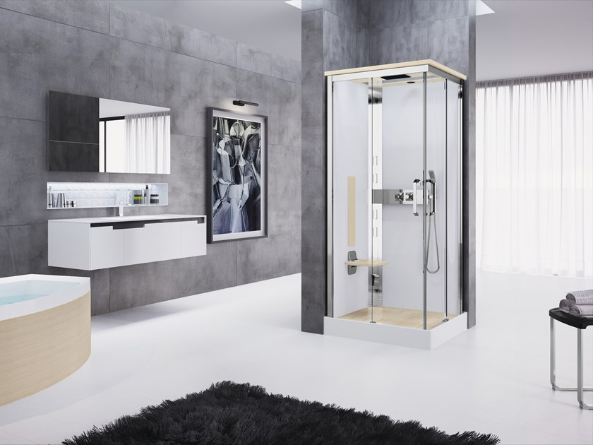 Multifunction shower cabin with sliding door NEXIS A90 by NOVELLINI
