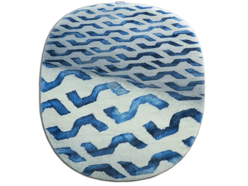 Patterned oval polyamide rug NEXT 29 by G.T.DESIGN