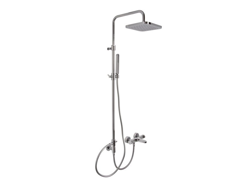 Wall-mounted shower panel with overhead shower NEXT F3934/2 | Shower panel by FIMA Carlo Frattini