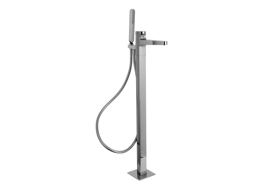 Floor standing 1 hole bathtub mixer with hand shower NEXT F3934/4 | Bathtub mixer by FIMA Carlo Frattini
