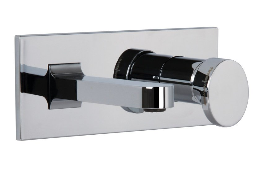 Wall-mounted washbasin mixer with plate NEXT F3951X5 | Washbasin mixer by FIMA Carlo Frattini