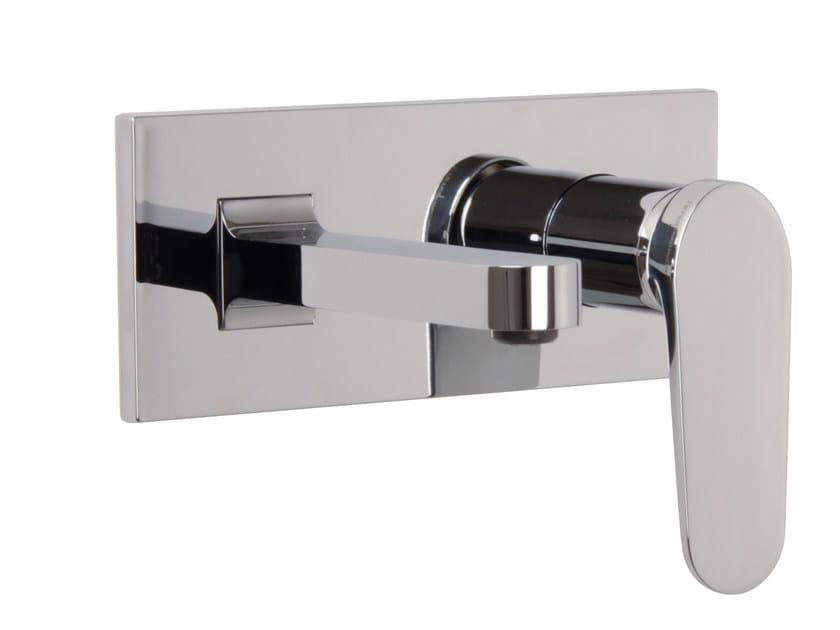 Wall-mounted washbasin mixer with plate NEXT F3961X5 | Washbasin mixer by FIMA Carlo Frattini