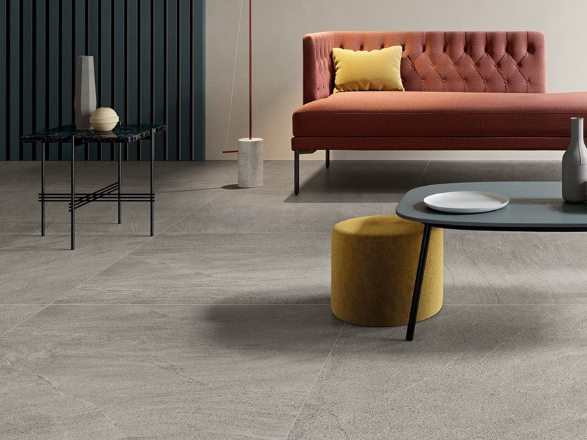 Ceramic wall/floor tiles with stone effect NEXTONE GRAY by LEA CERAMICHE