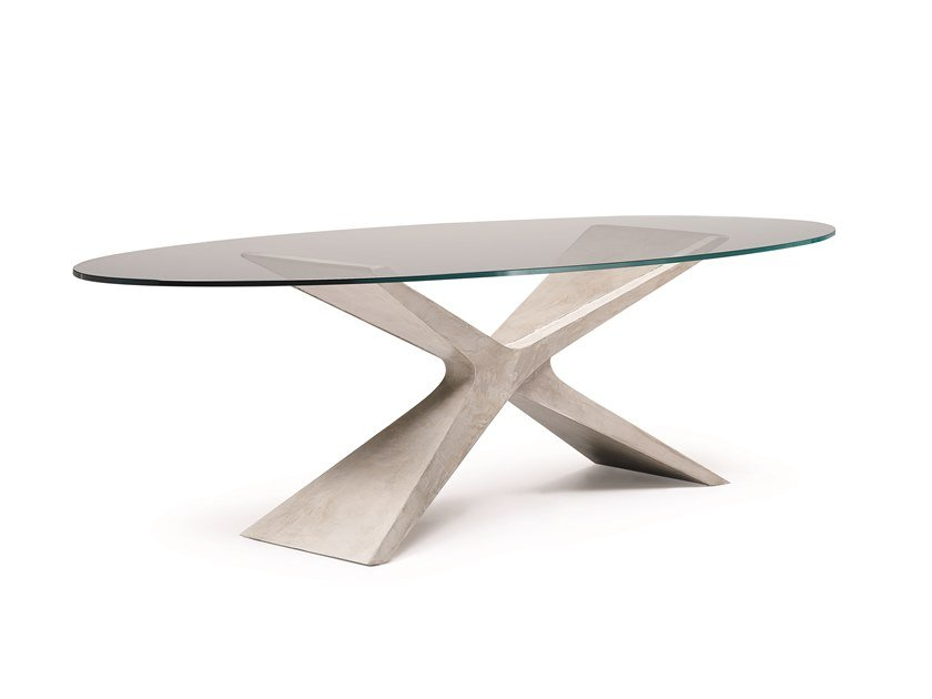 Oval Baydur® table NEXUS by Midj