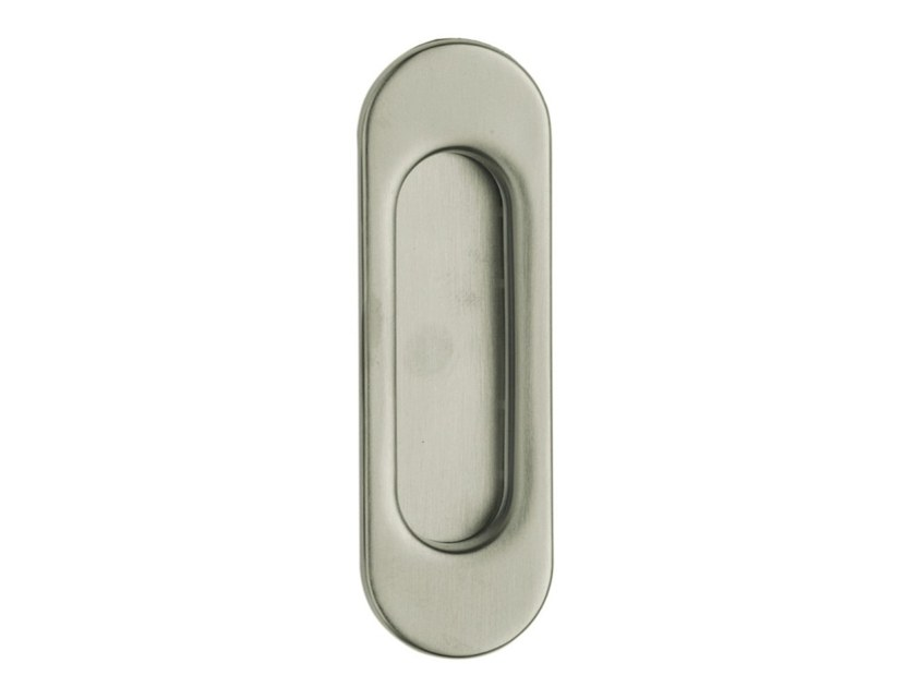 Recessed brass door handle NICCHIA by Pasini