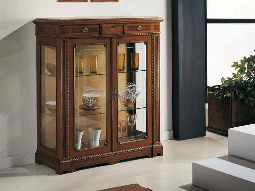 Solid wood display cabinet NICOLE by Arvestyle