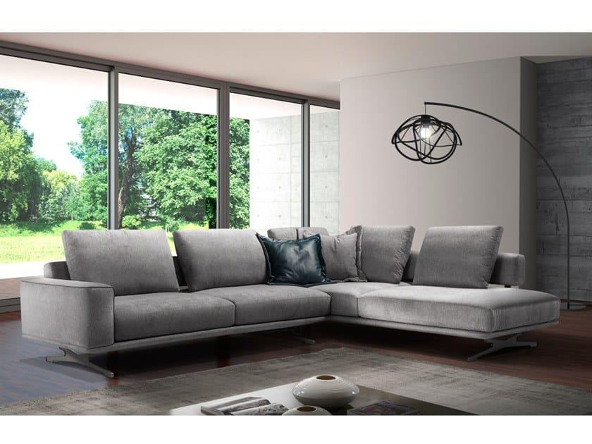 Corner fabric sofa NICOLE by Max Divani
