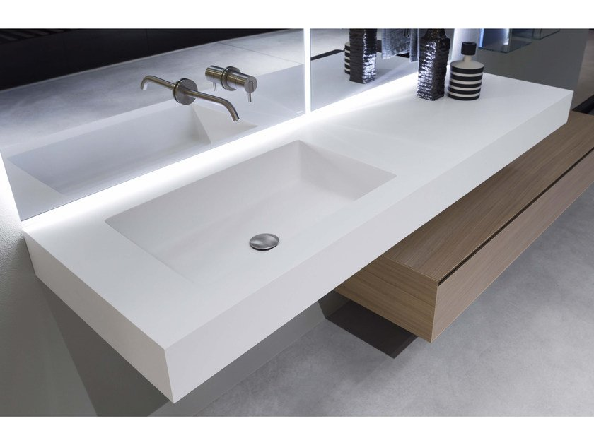 flumood washbasin with integrated countertop nido by. Black Bedroom Furniture Sets. Home Design Ideas