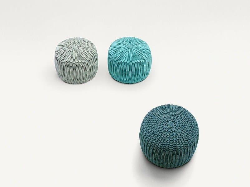 Round garden pouf NIDO | Garden pouf by paola lenti