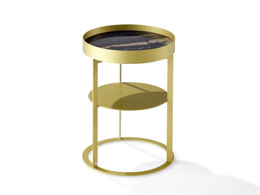 Round metal bedside table NIGHT | Metal bedside table by Draenert