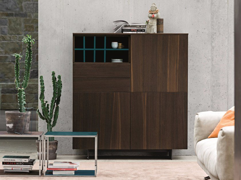 Oak highboard with doors with drawers NIGHT | Oak highboard by Dall'Agnese