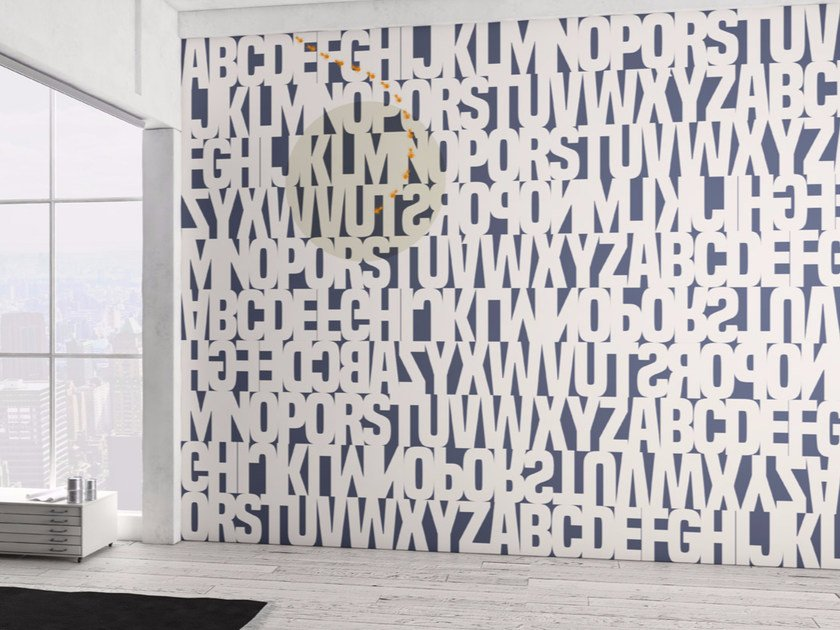 Washable writing vinyl wallpaper NIGHT TRIPPER by GLAMORA