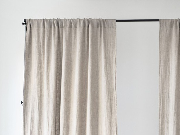 Solid-color linen curtain NIGHTIME TUNNEL by Linen Tales