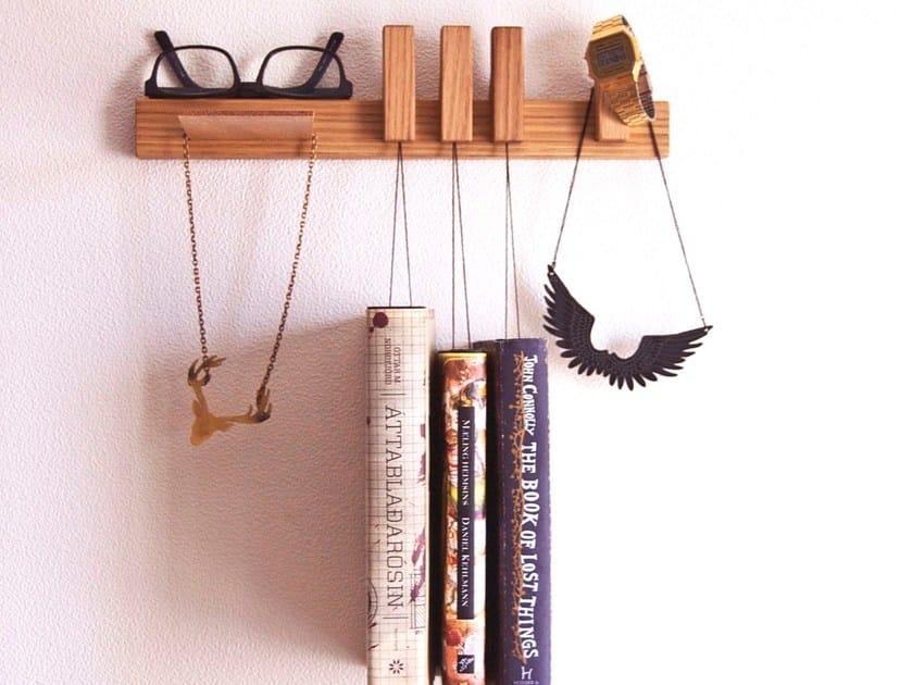 Wall-mounted oak bedside table NIGHTSTAND | Oak bedside table by AGUSTAV