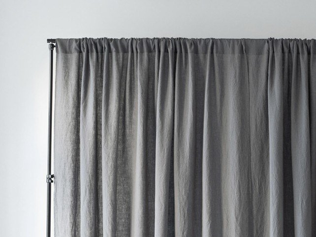 Solid-color linen curtain NIGHTIME TUNNEL WIDE by Linen Tales