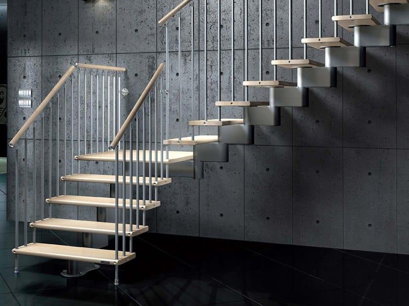 Scala a giorno ad L modulare in alluminio NIKA CZ by MOBIROLO