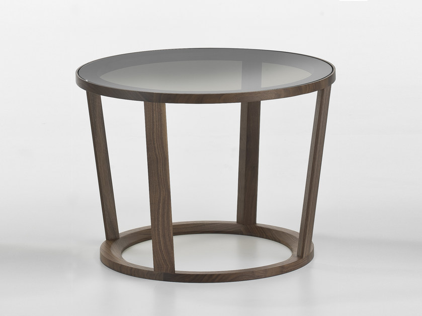 Low round glass coffee table NIKY | Glass coffee table by i 4 Mariani
