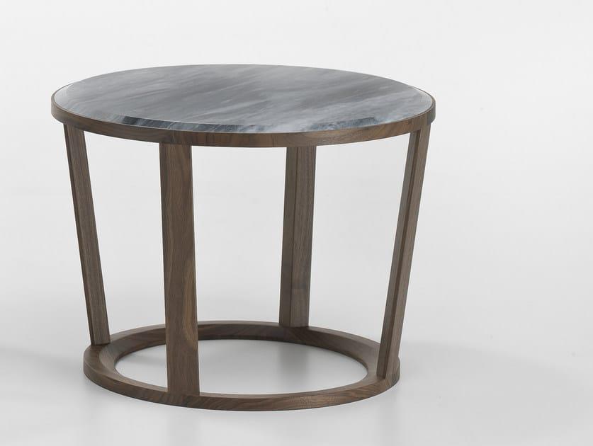 Tavolino basso rotondo in marmo NIKY | Tavolino in marmo by i 4 Mariani
