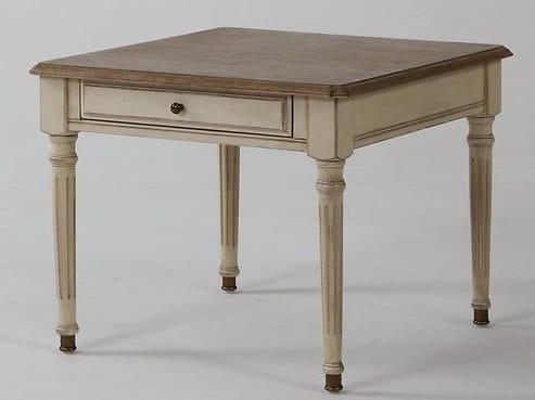 Tavolino fatto a mano quadrato in legno NILO by Arrediorg.it®