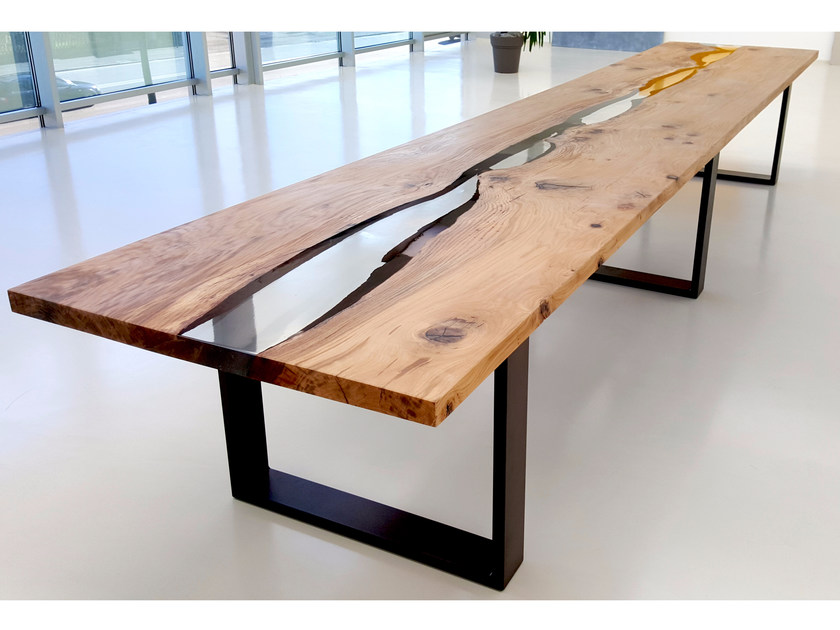 Table rectangulaire en ch ne nilo by azimut resine - Resine da esterno ...