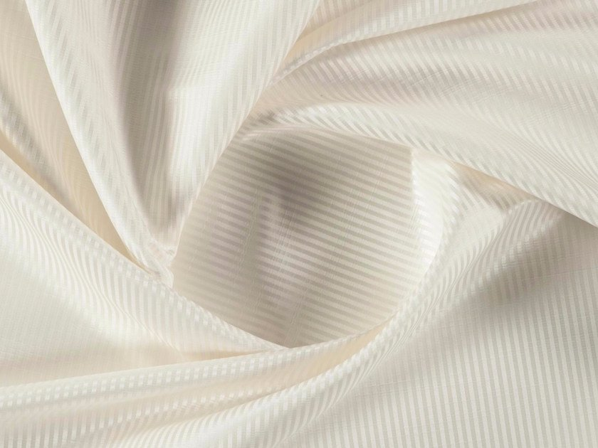 Striped jacquard polyester fabric for curtains NIMBO by More Fabrics