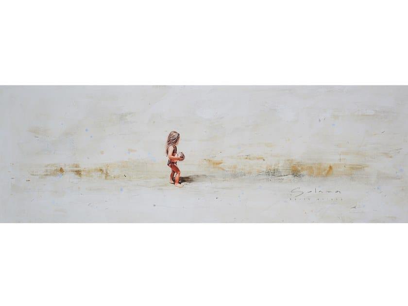 Canvas Painting Niña con coco by NOVOCUADRO ART COMPANY
