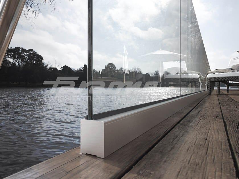 Glass balustrade NINFA 105 by FARAONE