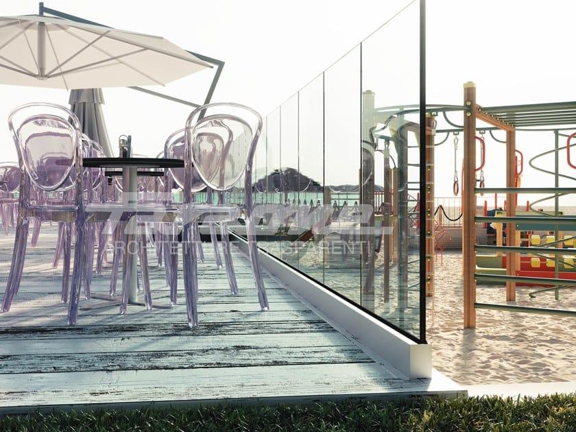 Glass balustrade NINFA 55 by FARAONE