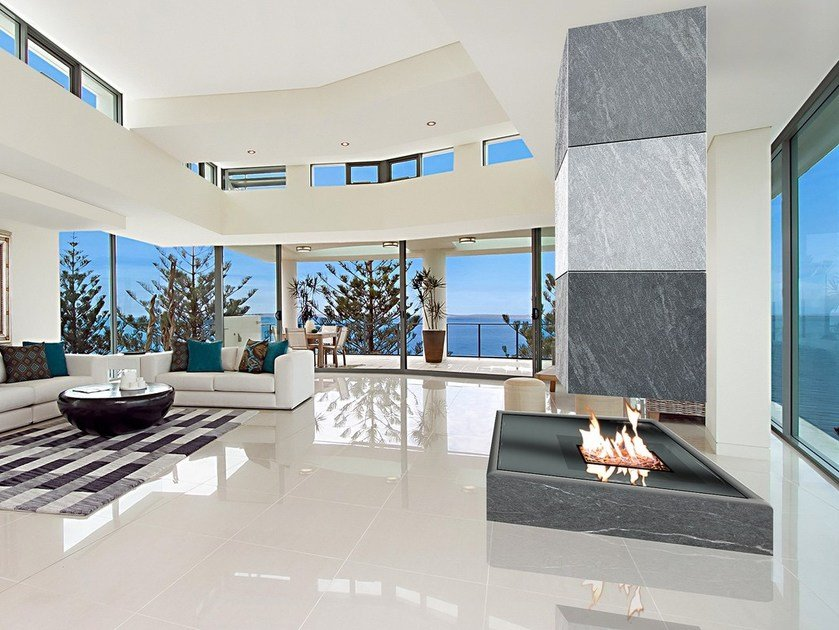 Gas open central fireplace NINFEA | Central fireplace by ITALKERO