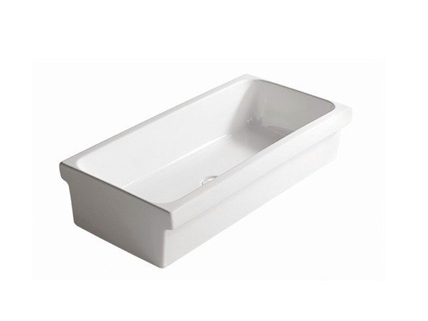 Ceramic Public washbasin NINIVE 90 by GALASSIA