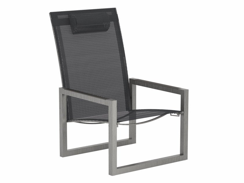 Recliner Batyline® deck chair with armrests NINIX | Deck chair by Royal Botania