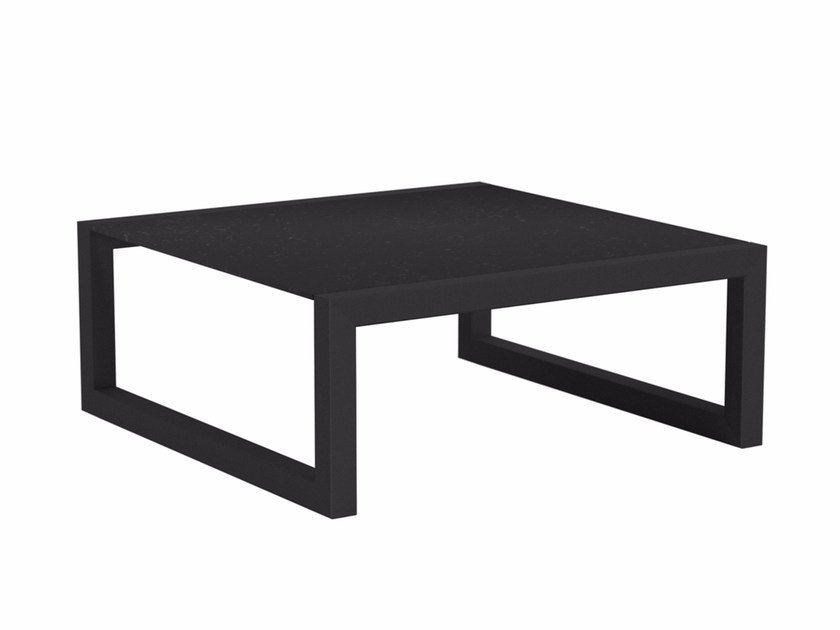 Low square garden side table NINIX | Low coffee table by Royal Botania