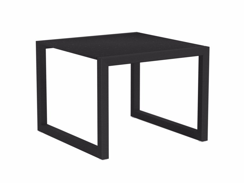 Sled base square garden side table NINIX | Square coffee table by ROYAL BOTANIA