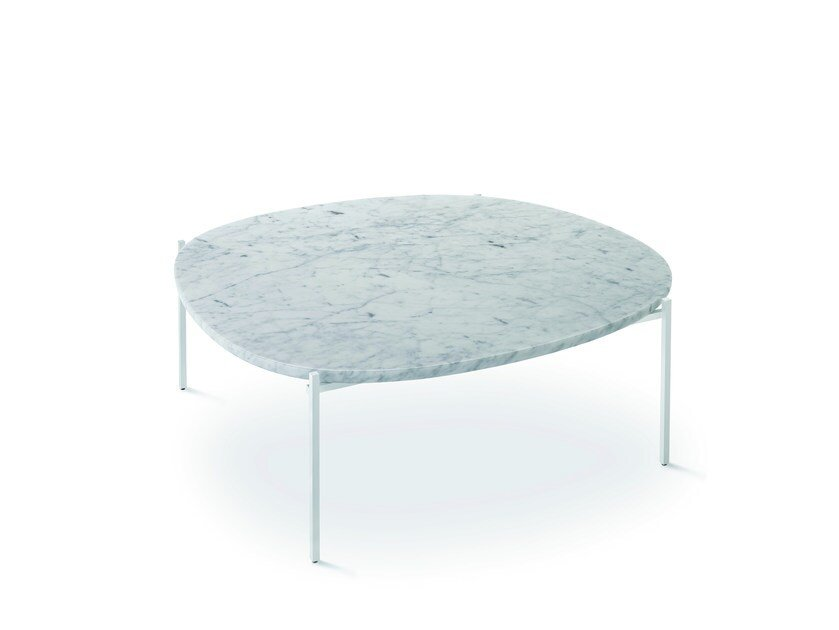 Marble coffee table NIOBE 672 by Zanotta