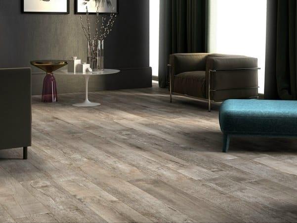 Pavimento/rivestimento in gres porcellanato a tutta massa effetto legno NIRVANA B by LaFaenza