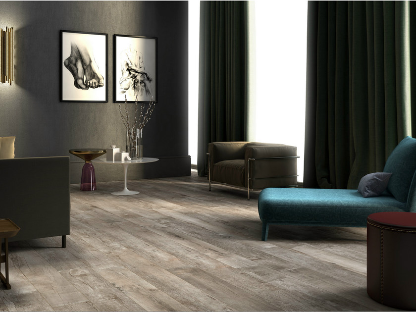 Porcelain stoneware flooring with wood effect NIRVANA by Ceramica d'Imola