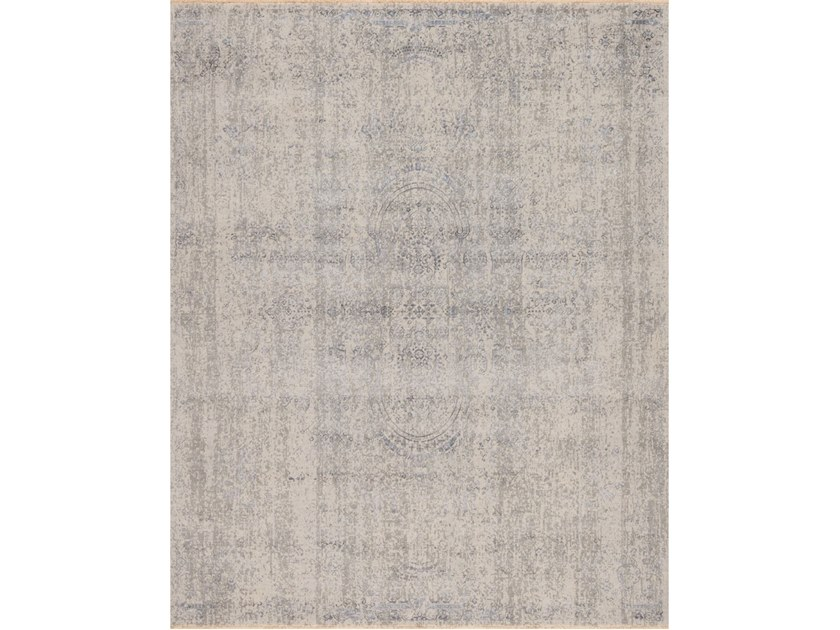 Handmade rectangular rug NIRVANA N 09 BLUE GREY by EBRU