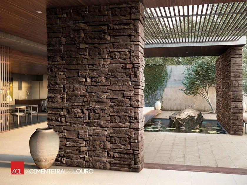Revestimiento de fachada piedra artificial nisa - Fachadas de piedra artificial ...