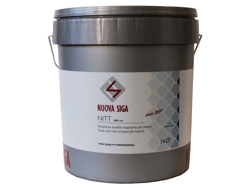 Washable water-based paint / Breathable water-based paint NITT by NUOVA SIGA