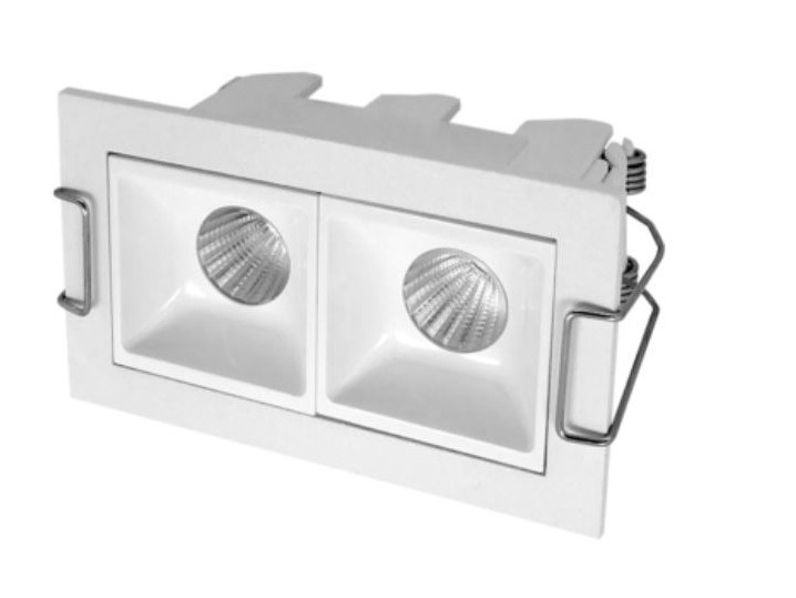 LED rectangular recessed aluminium spotlight NIXE 2 by LED BCN