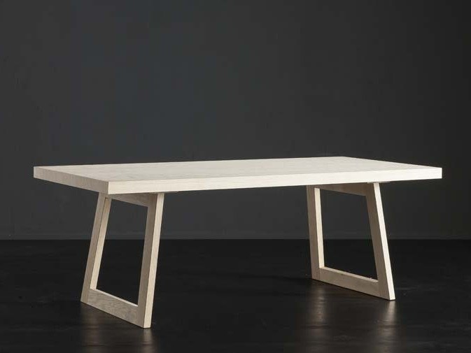 Rectangular wooden dining table NIZZA + FLAT by AltaCorte