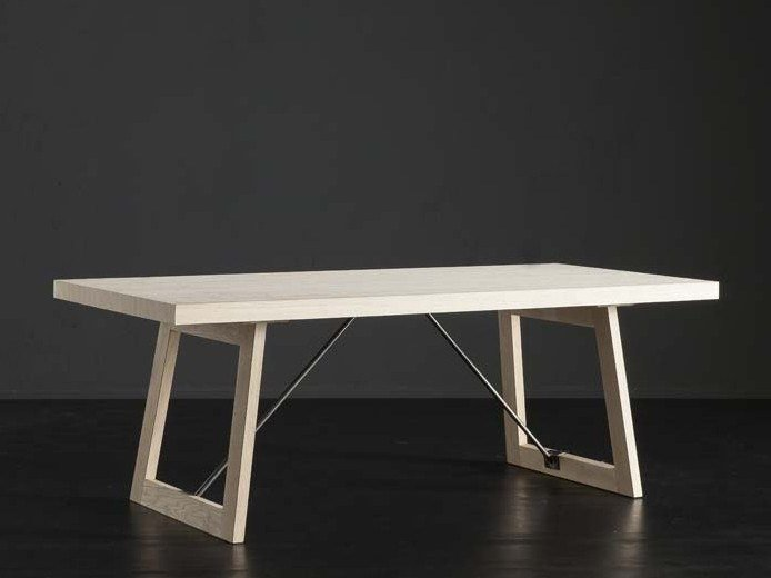 Rectangular wooden dining table NIZZA + FLAT/ TIRANTI by AltaCorte